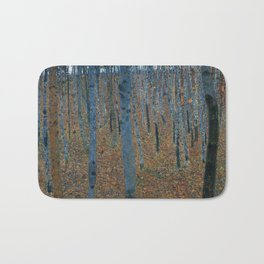 Beech Grove I by Gustav Klimt (1902) Bath Mat