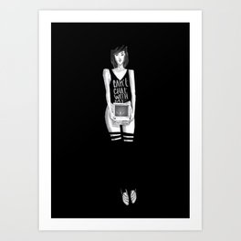 Can't chat With Me Art Print