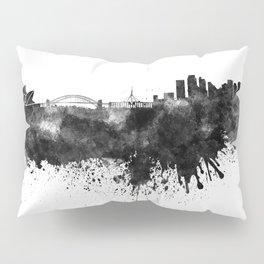 Sydney skyline in black watercolor Pillow Sham