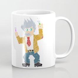 Cartoon crazy scientist. Coffee Mug