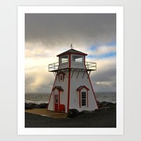 lighthouse Art Prints featuring Lighthouse by Sartoris ART