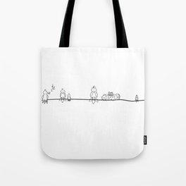 Line of birds Tote Bag