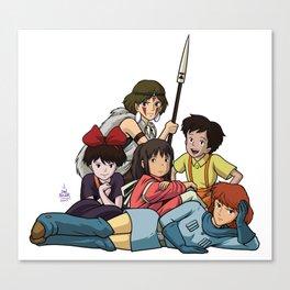 The Ghibli Club Canvas Print