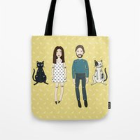 family Tote Bags featuring Family by Marta Li