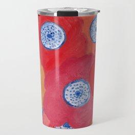 Hippy flowers watercolor Travel Mug