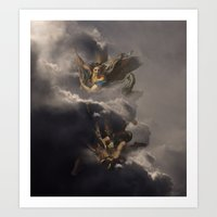 Michael & Lucifer Art Print