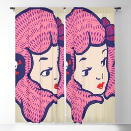 Girl Power Cotton Candy Blackout Curtain
