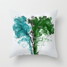 TREES SPREADING Throw Pillow