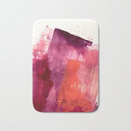 Blushing: a vibrant, minimal abstract in purple, pink, and red Bath Mat
