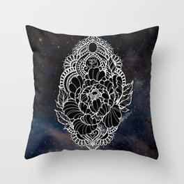 Ohm Peony Throw Pillow