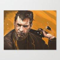 blade runner Canvas Prints featuring Blade Runner by Berkay Daglar