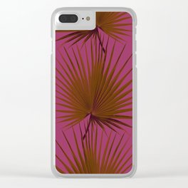 Palm Leaves Edition Clear iPhone Case