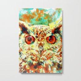 Watercolor Owl Metal Print