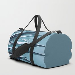 Palm Rays - Duotone Black and Teal Duffle Bag
