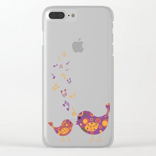 Bird Duet Clear iPhone Case