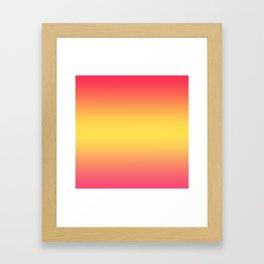 Ombre Anjo Raspberry Gold Gradient Framed Art Print