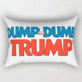 Dump Dumb Trump Rectangular Pillow