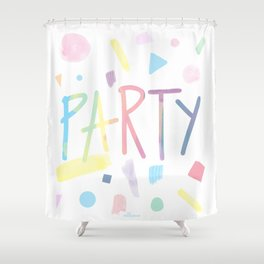 Pastel party Shower Curtain