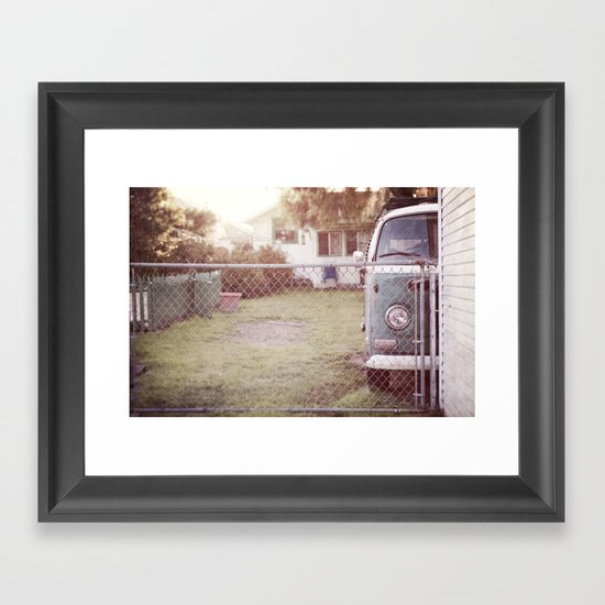staying home Framed Art Print