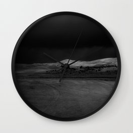 Dark Sands Wall Clock