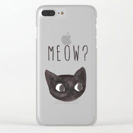 Meow? Clear iPhone Case