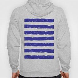 Hand-Drawn Stripes (Navy Blue & White Pattern) Hoody