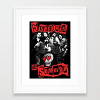5 seconds of summer Framed Art Prints featuring FIVE SECONDS  by dan ron eli