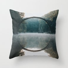 The Devil's Bridge Throw Pillow