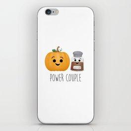 Pumpkin + Spice = Power Couple iPhone Skin