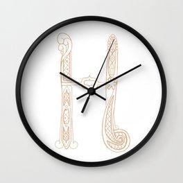 Fancy H Wall Clock