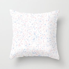 'Speckle Party' Lilac + Pink Dots Speckle Terrazzo Pattern Throw Pillow