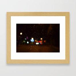 Raindrops of Light Framed Art Print