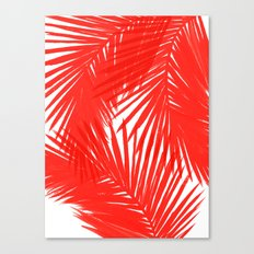 Palms Red Hot Canvas Print