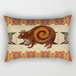 Native American Folk Art Bear Rectangular Pillow