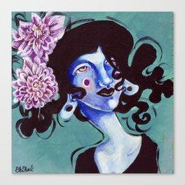 Flower Girl - Chrysanthemums Canvas Print