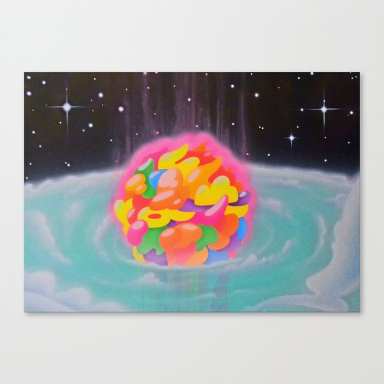 """SPACE INFLATION"" Canvas Print"