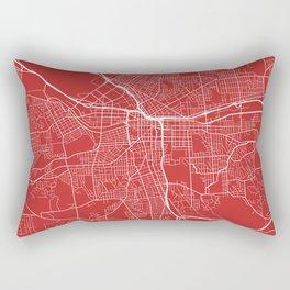 Syracuse Map, USA - Red Rectangular Pillow