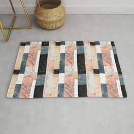 Marble Colorblock Stripes Rug