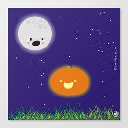 """Scared Moon"" ""Lunita asustada"" Canvas Print"