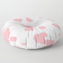Pink memphis pattern Floor Pillow