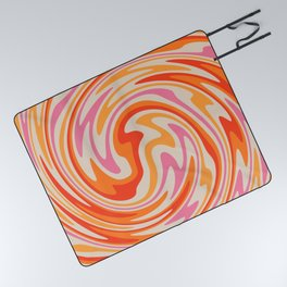 70s Retro Swirl Color Abstract Picnic Blanket