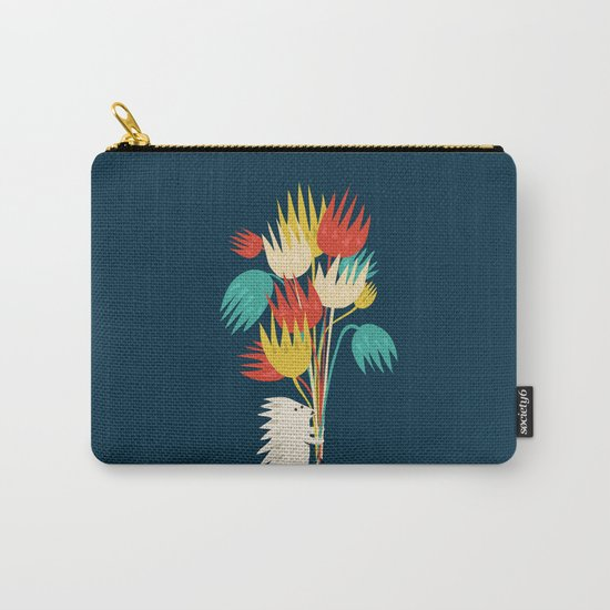 Hedgehog with flowers Carry-All Pouch