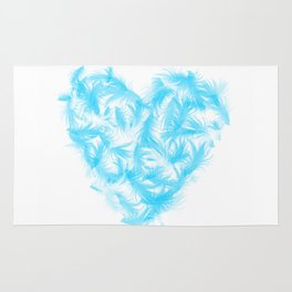 Feathers heart Rug