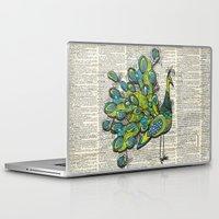 peacock Laptop & iPad Skins featuring Peacock  by Sheree Joy Burlington