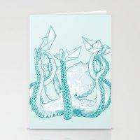 kraken Stationery Cards featuring Kraken by Badaro