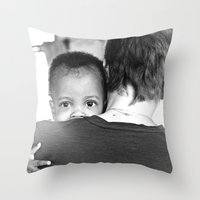 hug Throw Pillows featuring Hug by Dave Houldershaw