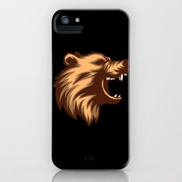 Angry Grizzly Bear iPhone Case