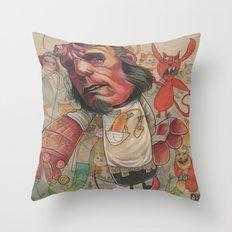 AT THE PET SHOP Throw Pillow