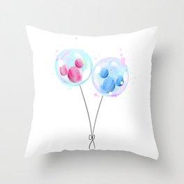 Disneyland Balloons Throw Pillow