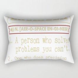 Aerospace Engineer Funny Dictionary Term Rectangular Pillow